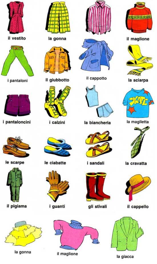 Impariamo vocabolario l 39 abbigliamento - Immagini in francese per bambini ...
