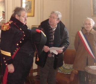 Michel Delgado, Mme le Maire et le président Daniel Poisson