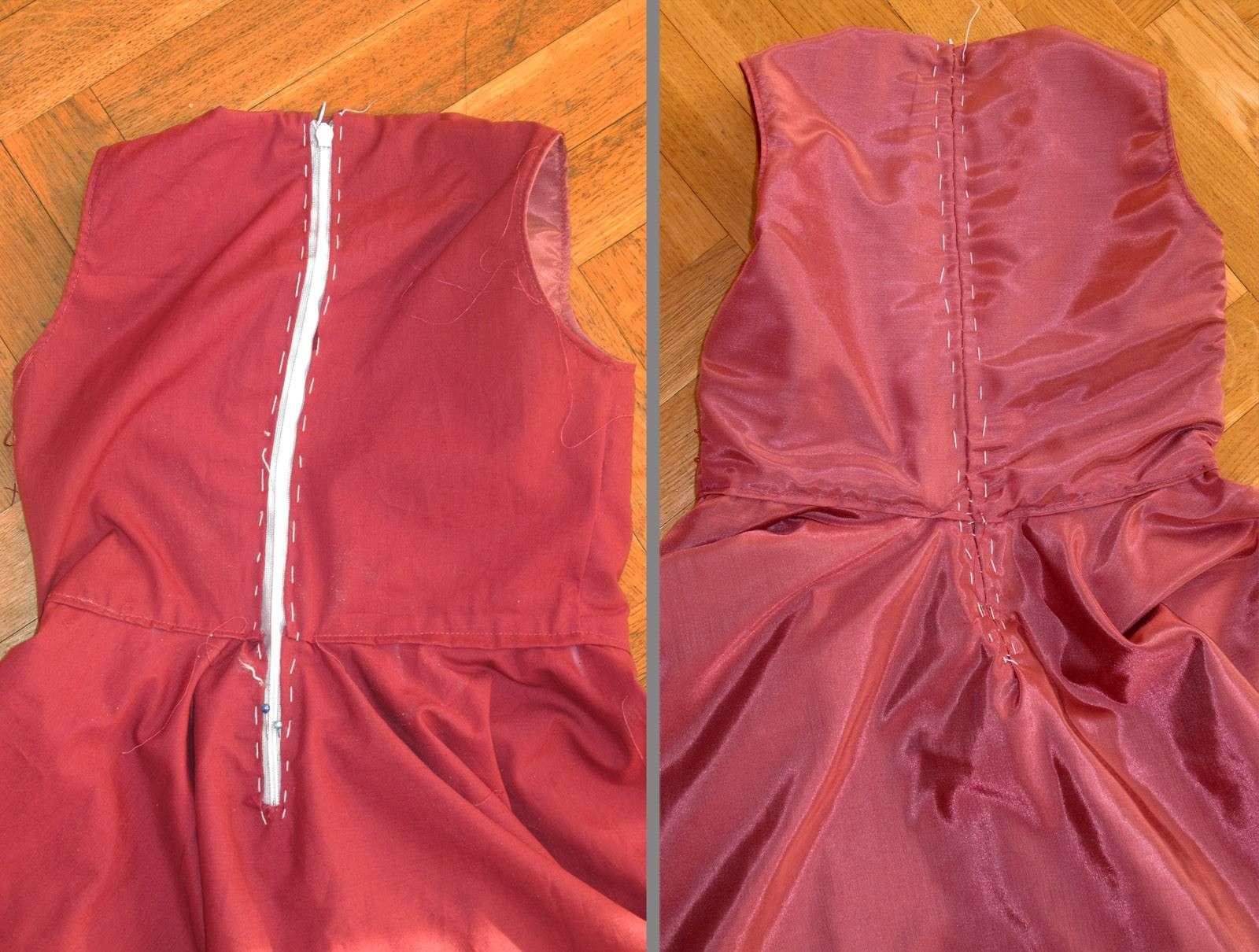 comment coudre la doublure d 39 une robe. Black Bedroom Furniture Sets. Home Design Ideas