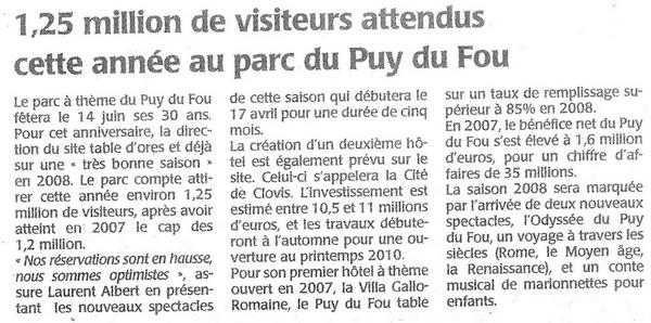 Un nouvel hotel en 2010 au Puy du Fou : La Cité de Clovis