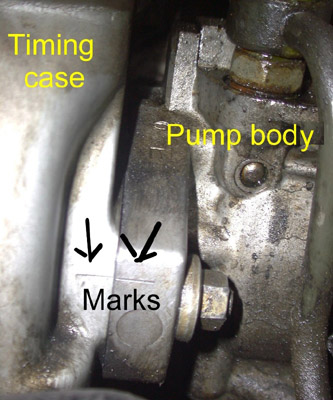 3304 Fuel pump Timing Marks