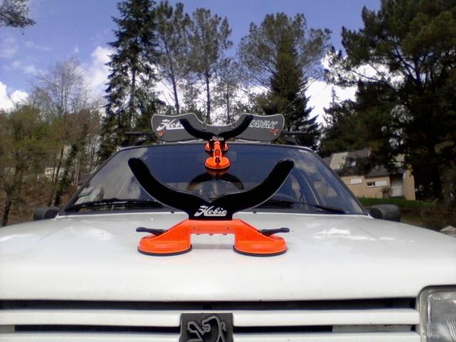Afficher le sujet mettre le kayak sur for Porte kayak voiture