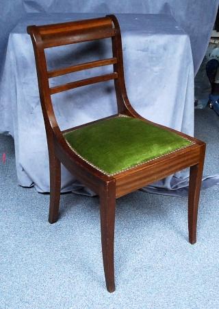 4 chaises de style restauration or r gency. Black Bedroom Furniture Sets. Home Design Ideas