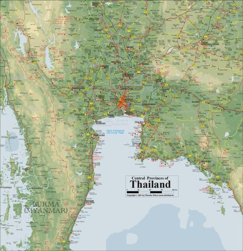Carte Detaillee Thailande.Carte Detaille De La Thailande Forum Thailande Lonely Planet