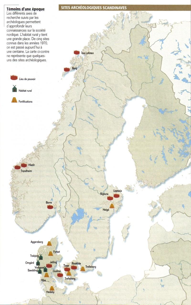 Carte des sites archéologiques scandinaves