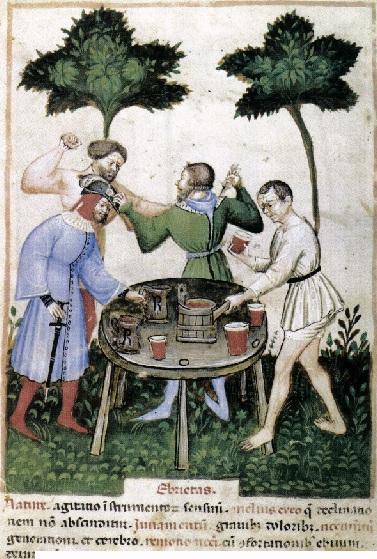 Dispute entre deux ivrognes.