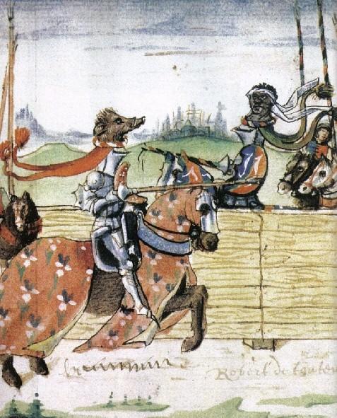 Combat entre le comte Ferry de Lorraine et le comte d'Eu de la maison de Valois