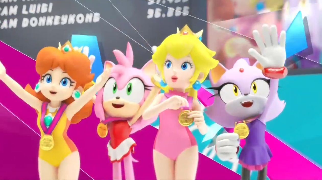Image removal request use the form below to delete this sonic - Pin Mario Sonic The London Olympic Games Daisy Peach Blaze