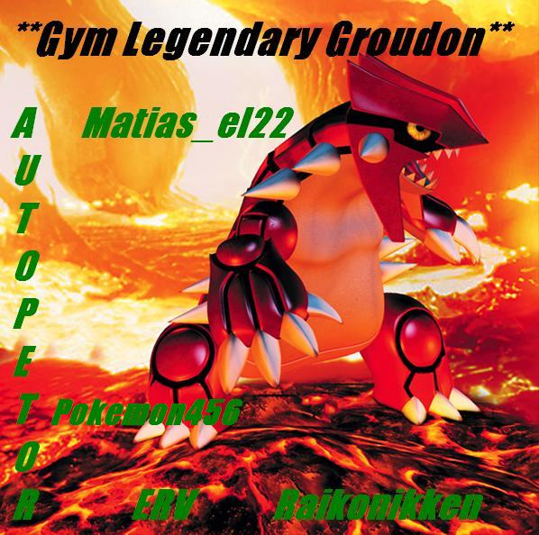 ** The Legendary Groudon **