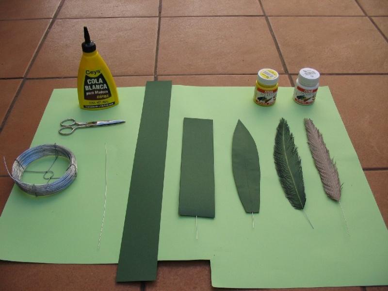 Palmeras construcci n b sica - Como hacer una palmera artificial ...