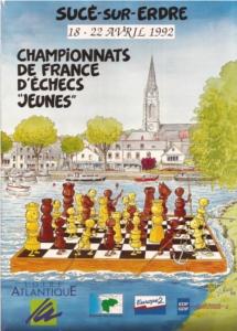 affiche des championnats de France jeunes 1992