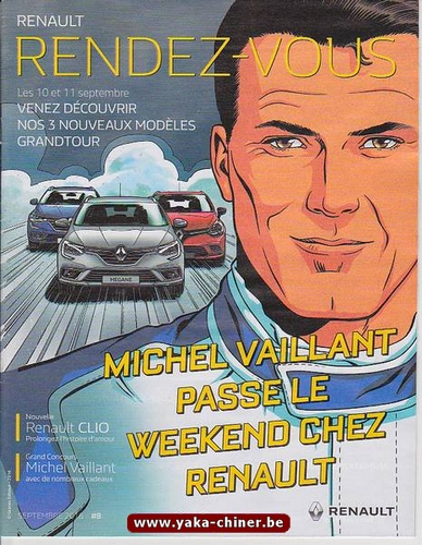 Michel Vaillant passe le weekend chez Renault