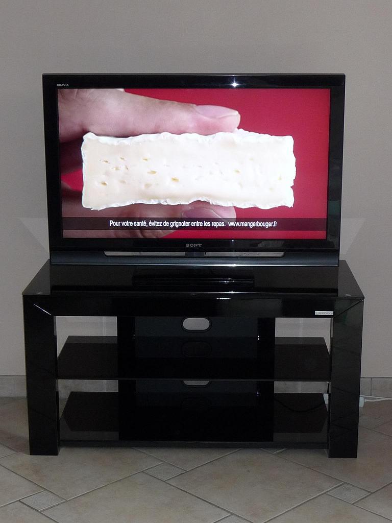 Vendu meuble tv norstone piu av noir for Meuble tv norstone