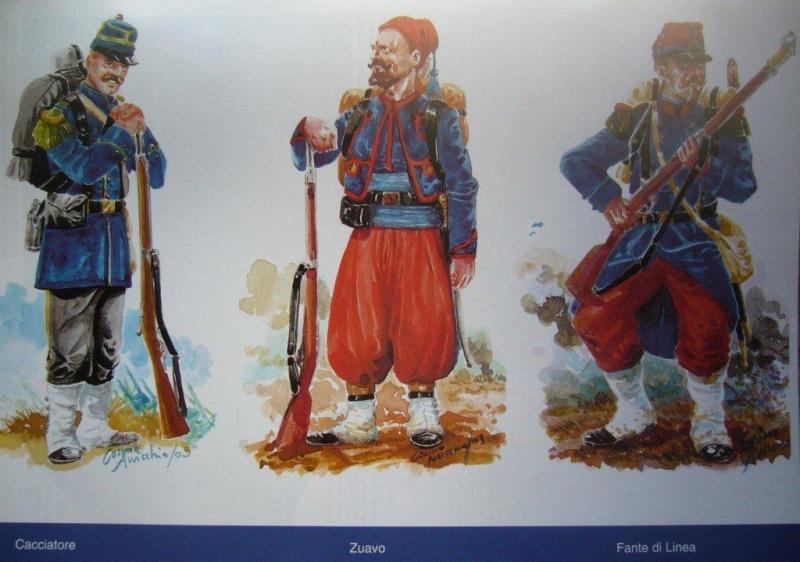 Uniformi zuavi francesi anno 1859 disegni di cosimo auricchio