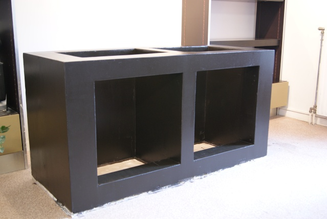 Fabrication dun meuble en béton cellulaire pour bac polyfon