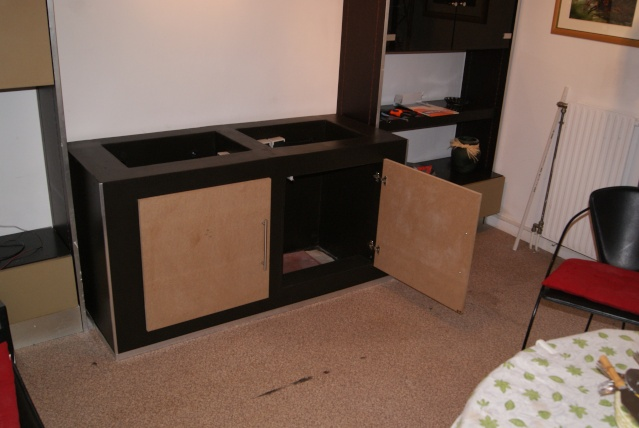 fabrication d 39 un meuble en b ton cellulaire pour bac polyfont. Black Bedroom Furniture Sets. Home Design Ideas