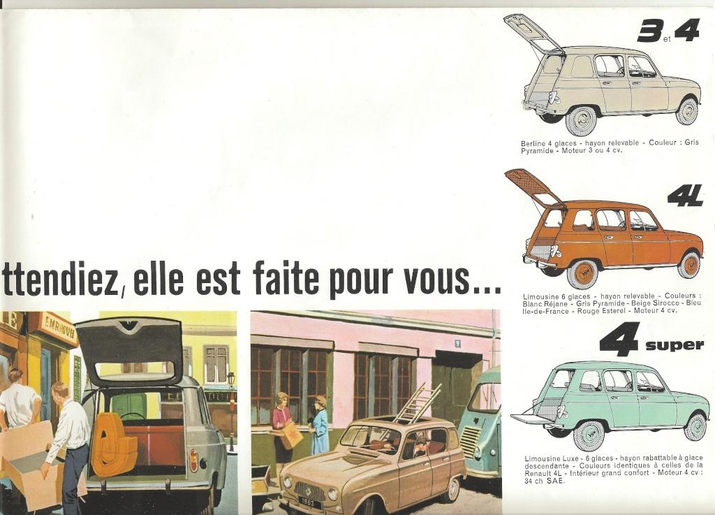 Couleurs Pratiquées Par Renault Sur Les 4l 1962 Et 1963 Général