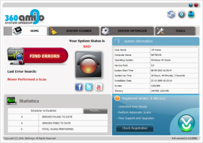 360Amigo System Speedup v1.2.1.7200 Pro Edition MULTILINGUAL