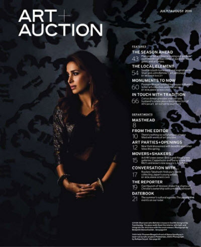 Art + Auction - July/August 2011