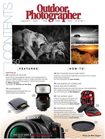 Outdoor Photographer - August 2011