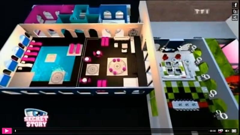 Pin le plan 3d de la maison des secrets secret story 5 on pinterest - Maison de secret story ...