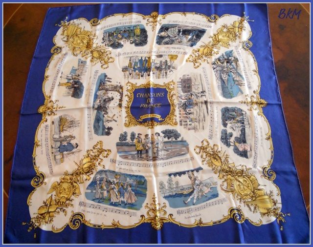Chansons de France is a classic scarf designed by my most admired Hermès  artist, Philippe Ledoux. It s very sought after, rare and difficult to find  ... c1a51069b2c