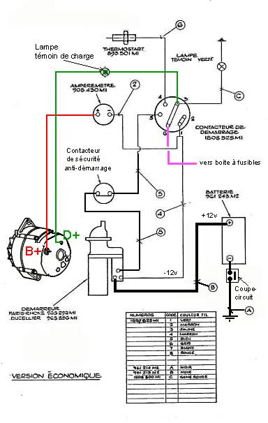 alternateur mf 255 logiciel schematique