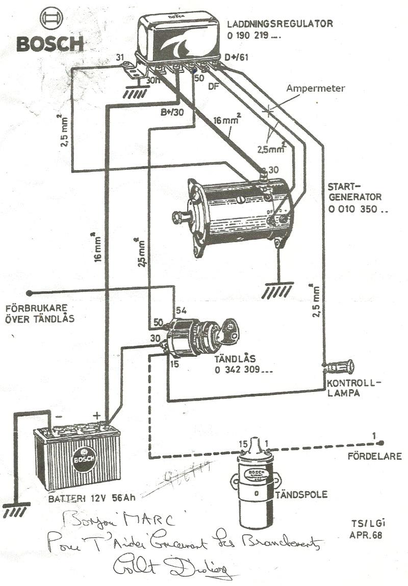 schema contacteur tracteur tondeuse
