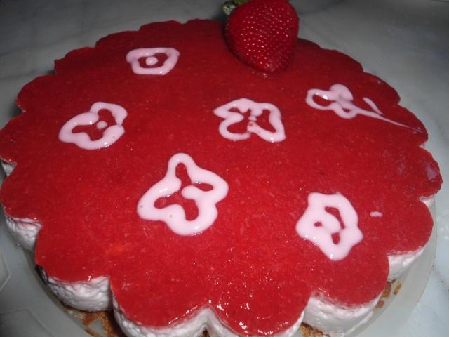 Bavarois aux fraises et sp culoos a la bonne bouffe for Miroir aux fraises
