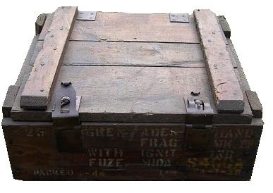 25 grenade mk2 caisse en bois. Black Bedroom Furniture Sets. Home Design Ideas