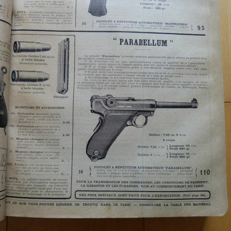 Le luger parabellum du tarif album de la manufacture for Pistolet 6mm bosquette