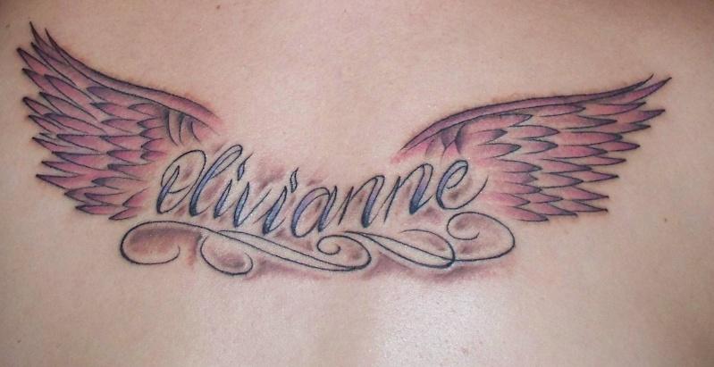 Tatouage Ange Avec Prenom