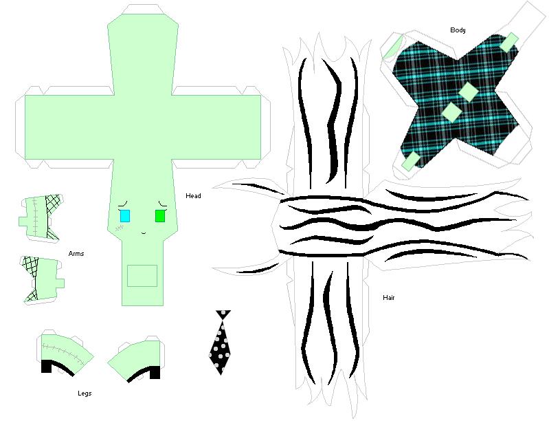 Схема монстра из бумаги