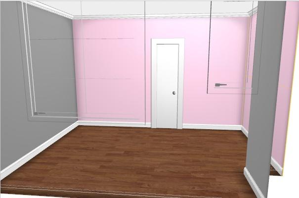 Maison rafra chir la chambre de ma fille de 2 ans 2 for Chambre grise et rose poudre