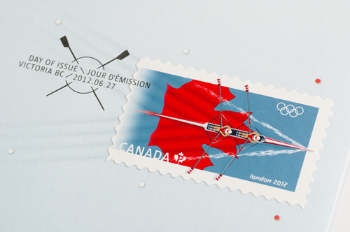 Timbre Canada - Jeux Olympiques de Londres 2012 (Aviron)