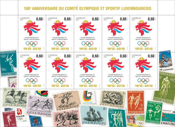 timbre luxembourg centenaire du comit national olympique. Black Bedroom Furniture Sets. Home Design Ideas