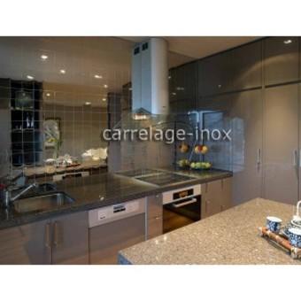 Miroir dans la cuisine a laplace de cr dence ou carrelage - Credence ou carrelage cuisine ...
