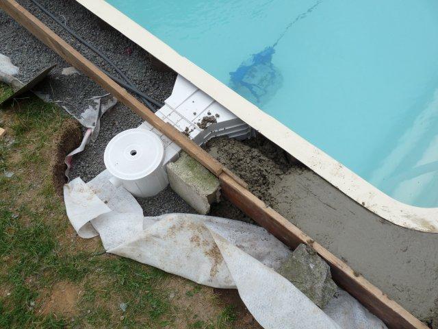 Ceinture et plage for Dosage beton pour terrasse