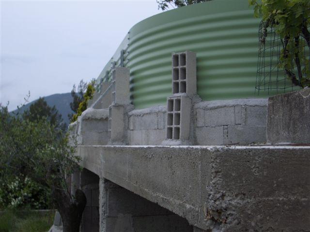 Chape maigre ou b ton for Piscine hors sol sans dalle beton