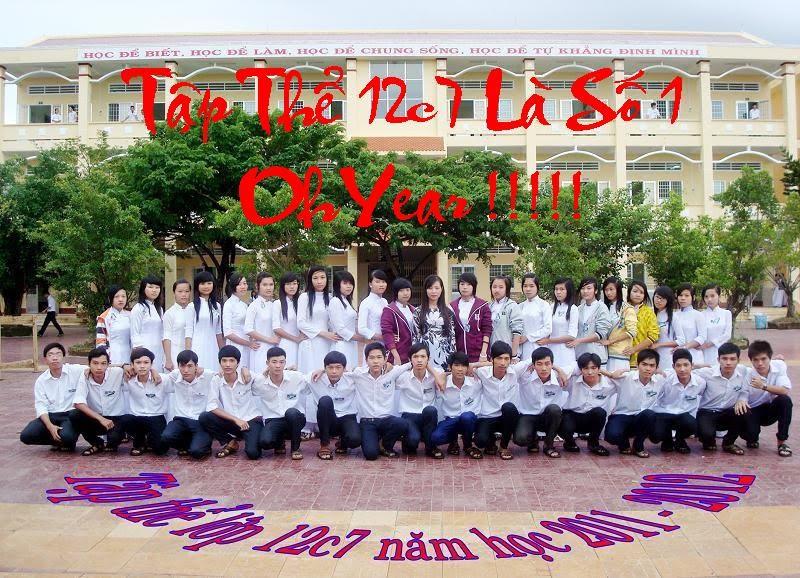 Lớp 12c7 trường THPT Đầm Dơi - Cà Mau
