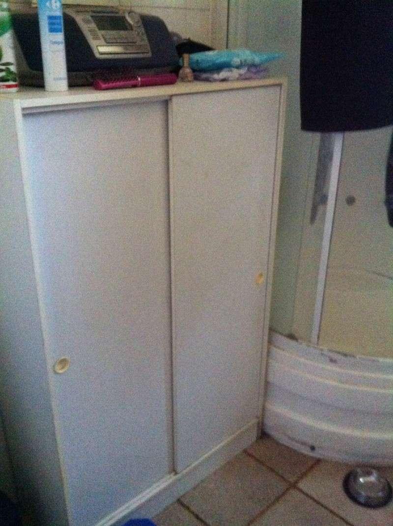 salle de bain avec plan de travaille et table langer. Black Bedroom Furniture Sets. Home Design Ideas