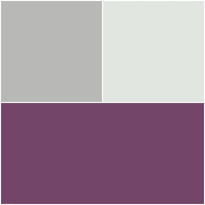 chambre parentale associations de couleurs aubergine gris