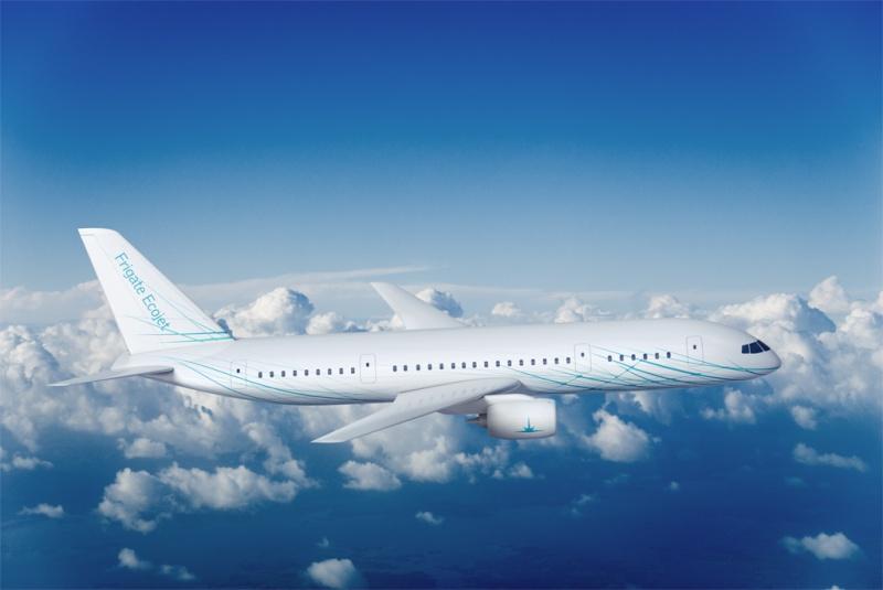 """Выбранное сечение фюзеляжа самолета  """"Фрегат Экоджет """" позволило уменьшить площадь омываемой поверхности фюзеляжа..."""