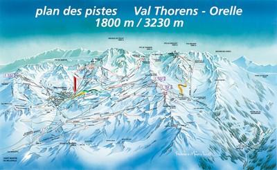 Val Thorens Схема трасс / маршрутов.